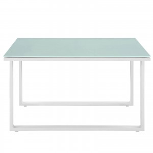 Fortuna Outdoor Patio Side Table, White by Modway Furniture