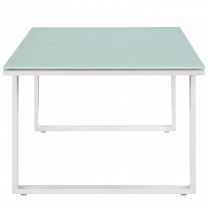 Fortuna Outdoor Patio Coffee Table, White by Modway Furniture