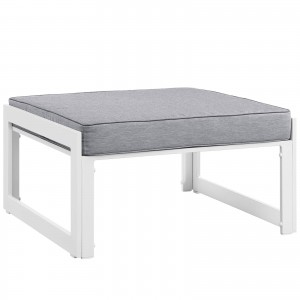Fortuna Outdoor Patio Ottoman, Gray by Modway Furniture