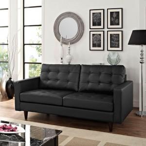 Empress Loveseat, Black by Modway Furniture