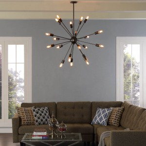 Beam Stainless Steel Chandelier by Modway Furniture