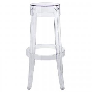 Casper Bar Stool, Clear by Modway Furniture