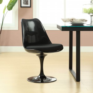 Lippa Dining Side Chair, Black by Modway Furniture