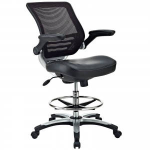 Edge Drafting Chair, Black by Modway Furniture