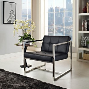 Hover Lounge Chair, Black by Modway Furniture