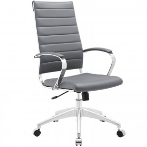 Jive Highback Office Chair, Gray by Modway Furniture