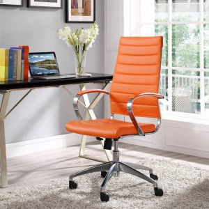 Jive Highback Office Chair, Orange by Modway Furniture