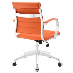 Jive Mid Back Office Chair, Orange by Modway Furniture