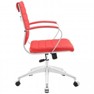 Jive Mid Back Office Chair, Red by Modway Furniture
