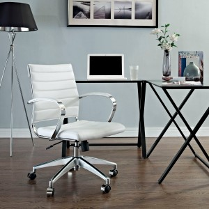 Jive Mid Back Office Chair, White by Modway Furniture