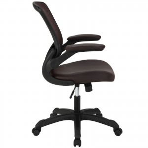 Veer Vinyl Office Chair, Brown  by Modway Furniture