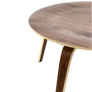 Plywood Coffee Table, Walnut by Modway Furniture