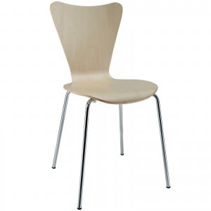 Ernie Dining Side Chair, Natural by Modway Furniture