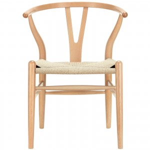 Amish Wood Armchair, Natural by Modway Furniture