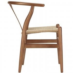 Amish Wood Armchair, Walnut by Modway Furniture