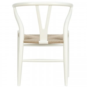 Amish Wood Armchair, White by Modway Furniture