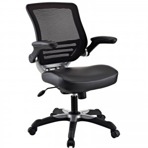Edge Vinyl Office Chair, Black by Modway Furniture