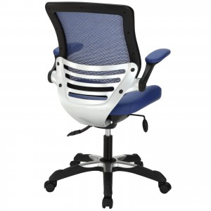 Edge Vinyl Office Chair, Blue  by Modway Furniture