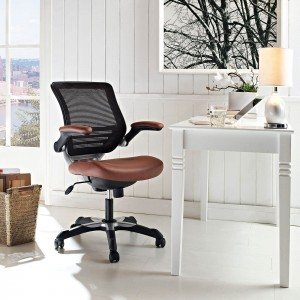 Edge Vinyl Office Chair, Tan by Modway Furniture