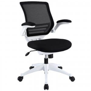 Edge White Base Office Chair, Black by Modway Furniture
