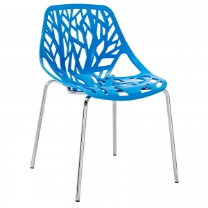 Stencil Dining Side Chair, Blue by Modway Furniture