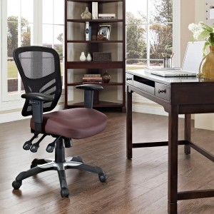 Articulate Vinyl Office Chair, Black by Modway Furniture