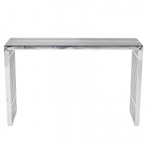 Gridiron Stainless Steel Console Table by Modway Furniture