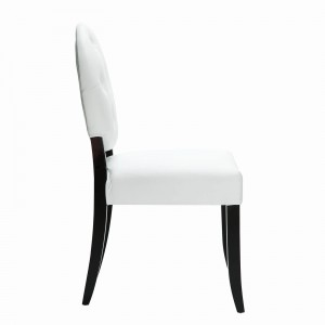 Button Dining Side Chair, White by Modway Furniture