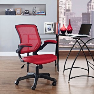 Veer Office Chair, Red by Modway Furniture