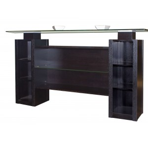 Elite Glass/Wood Bar Counter by Sharelle Furnishings