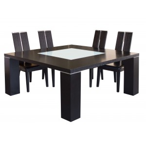 Elite Wood/Leather Dining Room Set by Sharelle Furnishings