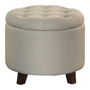 Cleo Fabric Ottoman by Homelegance