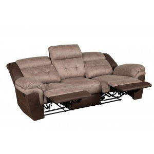 Chai Microfiber Double Reclining Sofa by Homelegance