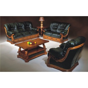 Figaro Full Leather Living Room Set by ESF Furniture