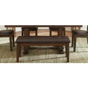 Wieland Transitional Vinyl Bench by Homelegance