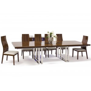 Galway Wood//Leather Dining Room Set by Sharelle Furnishings
