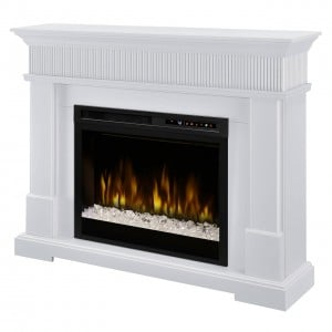 Jean Mantel Electric Fireplace, Acrylic Ice (XHD28) Firebox by Dimplex