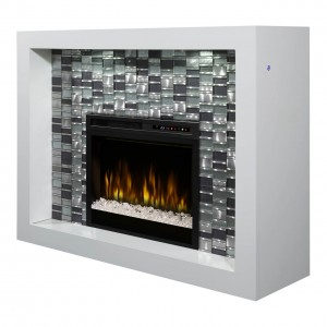 Crystal Mantel Electric Fireplace, Acrlyic Ice (XHD28) Firebox by Dimplex