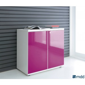 Gloss 2OH Low Office Storage Unit by MDD Office Furniture