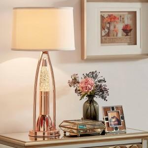 Lenora Metal/Fabric Table Lamp by Homelegance