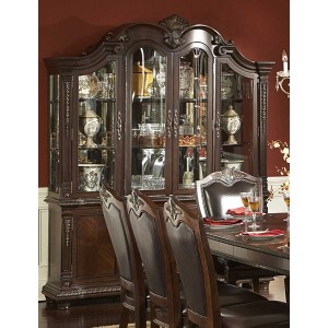 Palace Classic Glass/Wood China Cabinet by Homelegance