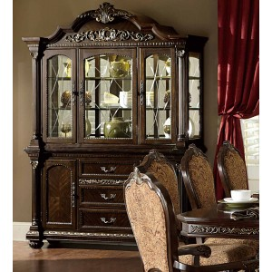 Russian Hill Classic Glass/Wood China Cabinet by Homelegance