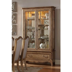 Chambord Antique Glass/Wood/Wood Veneer China Cabinet by Homelegance