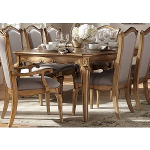 Chambord Traditional Rectangle Wood Extendable Dining Table by Homelegance