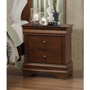 Abbeville Wood Veneer Nightstand by Homelegance