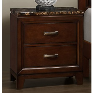 Ottowa Classic Nightstand w/Marble Top by Homelegance