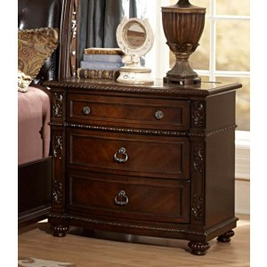 Hillcrest Manor Classic Nightstand w/ Marble Top