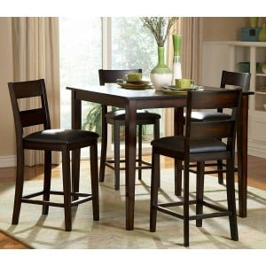 Griffin Transitional Counter Dining Room Set (Table + 5 Chairs) by Homelegance