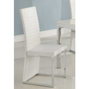 Clarice Contemporary Vinyl/Chrome Dining Chair by Homelegance