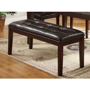 Decatur Transitional Vinyl/Wood Dining Bench by Homelegance